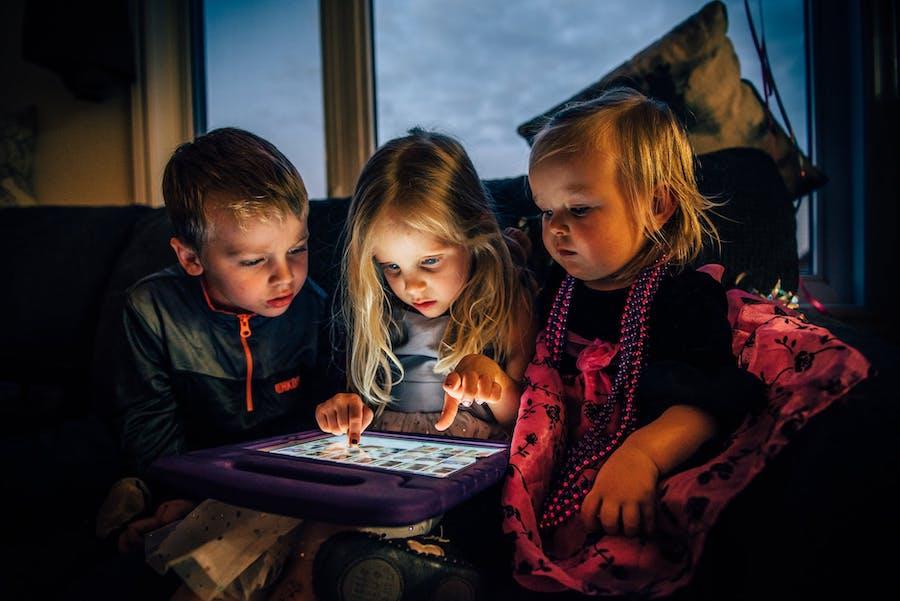 perigo das telas para crianças